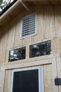 chicken coop - front window and vent